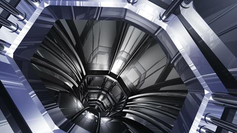 Tunnel tube SF B 01a HD Animation