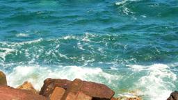 CRASHING WAVES Stock Video Footage