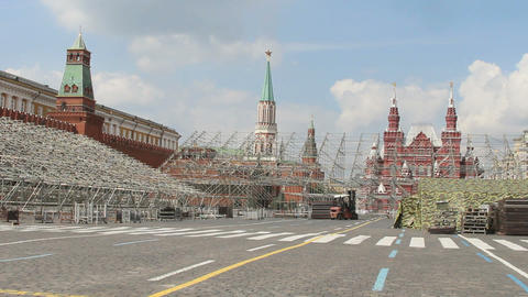 Construction Staging at Red Square Stock Video Footage