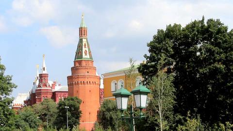 Corner Arsenalnaya Tower of Kremlin Stock Video Footage