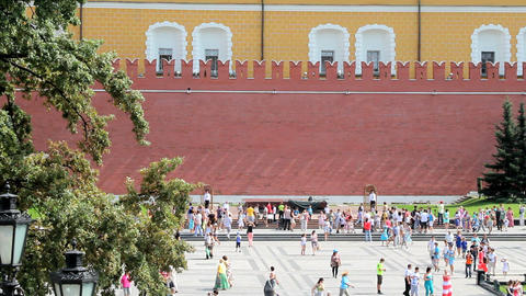 Tomb of Unknown Soldier at Kremlin Wall Stock Video Footage