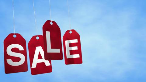 Sale Tags Loop Stock Video Footage