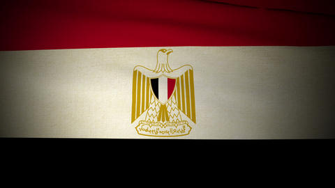 Flag Egypt 04 Stock Video Footage