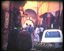 Morocco Typical Streets 8mm Vintage stock footage