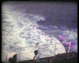 Travelling In A Ship In Gibraltar Pan Vintage 8 Mm stock footage