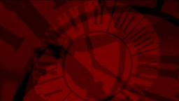 Animation Crazy clocks red silhouettes Stock Video Footage