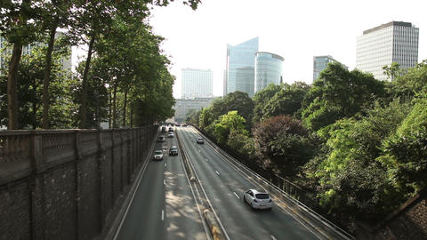 Cars moving through tunnel in Brussels, Belgium Stock Video Footage