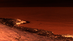 Rocky Cliff Red Black Martian Zombie stock footage