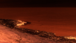 Rocky cliff red black martian zombie Stock Video Footage