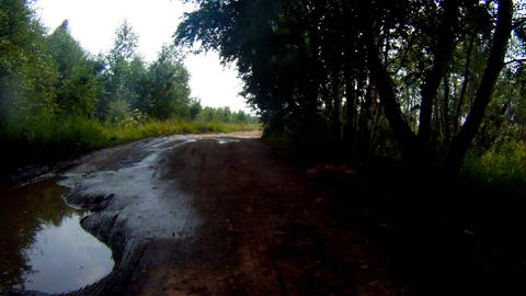 Riding the car Off road Stock Video Footage