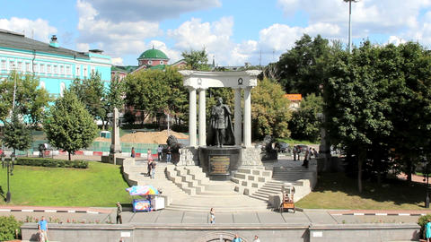 Emperor Alexander II Monument Stock Video Footage