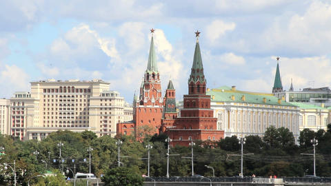 Moscow Kremlin Towers Footage