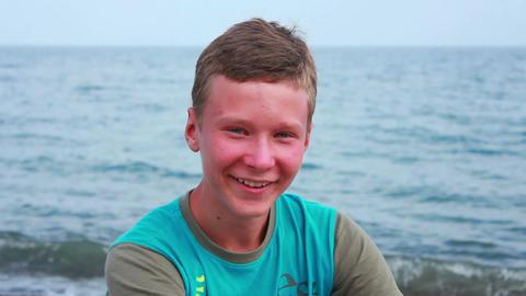 Boy on Beach 7 Stock Video Footage