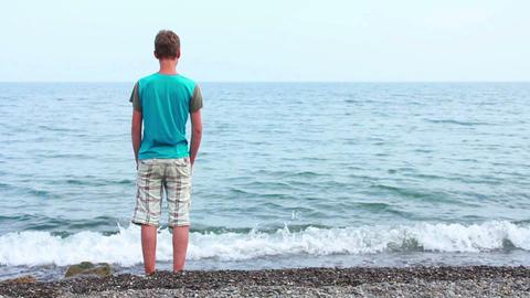 Boy on Beach 9 Stock Video Footage