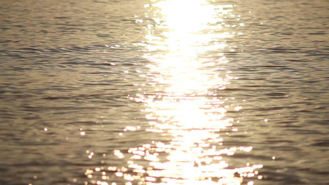 Sun Reflection in Waves 1 Stock Video Footage