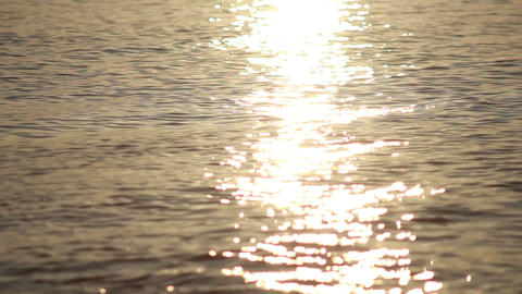 Sun Reflection in Waves 1 Footage