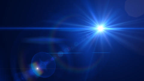 Lens Flares Blue Animation