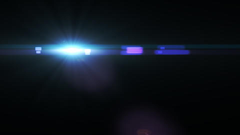 Lens Flares crossing blue glow vertical Animation