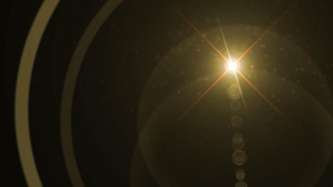 Lens Flares crossing gold Animation
