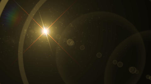 Lens Flares crossing gold vertical Animation