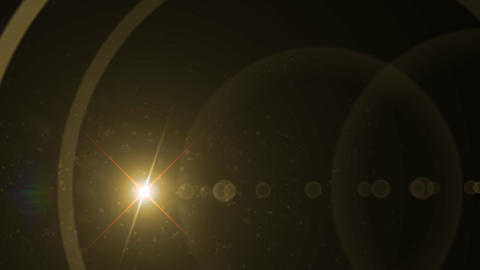 Lens Flares crossing gold vertical Stock Video Footage