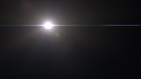 Lens Flares crossing Light slope Stock Video Footage