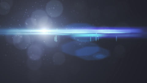 Lens Flares crossing of circle shape vertical Animation