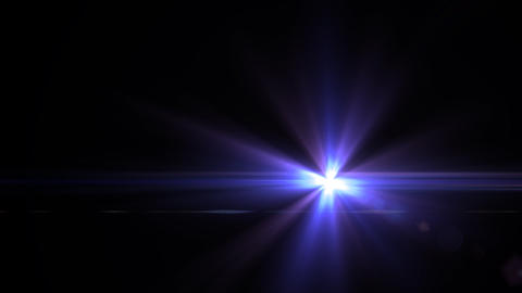 Lens Flares crossing Purple slope Animation