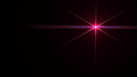 Lens Flares crossing red Animation