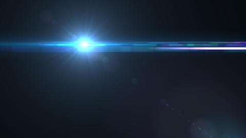 Lens Flares crossing Sea Blue slope Animation