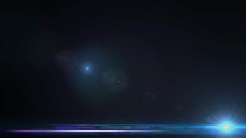 Lens Flares crossing Sea Blue slope Stock Video Footage