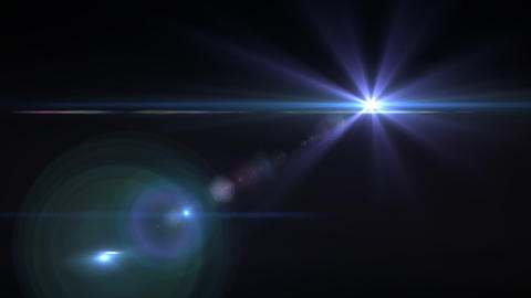 Lens Flares purple star Animation