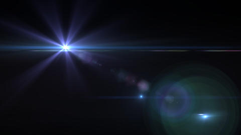 Lens Flares purple star Stock Video Footage