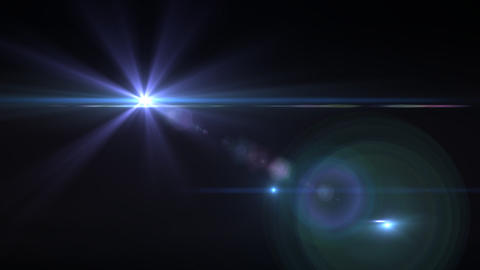 Lens Flares purple star vertical Animation