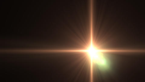 Lens Flares star glow slope Animation