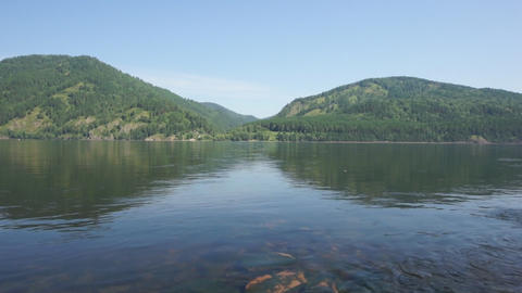 River Yenisei 07 pan right Stock Video Footage