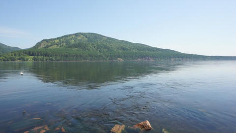 River Yenisei 07 pan right Footage