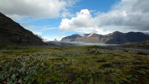 A glacier in the interior of Iceland Stock Video Footage