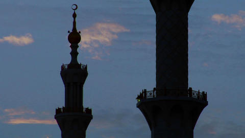 The spires and minarets of the beautiful Sheikh Za Stock Video Footage