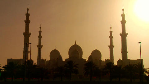 The spires and minarets of the beautiful Sheikh Za Footage