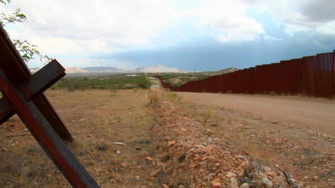 The U.S. Mexico border region becomes a focal poin Stock Video Footage