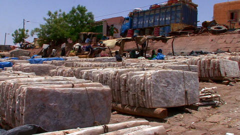 Goods are bundled and shipped in Mali, Africa Footage