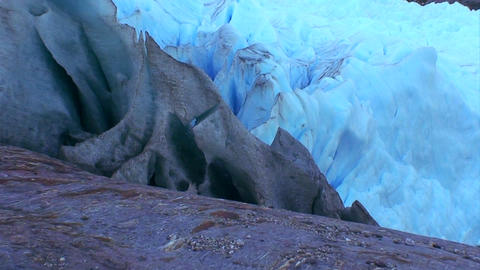 Different colors of glacier ice Stock Video Footage