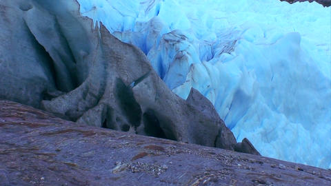 Different colors of glacier ice Footage