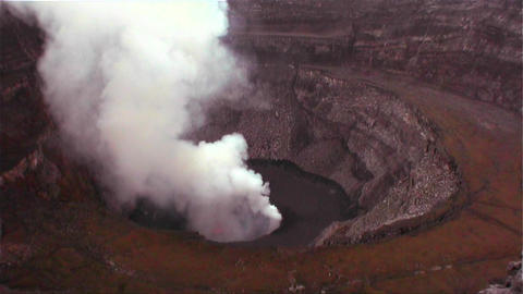 The Nyiragongo volcano by daylight in the Democrat Footage