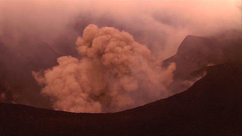The Nyiragongo volcano by daylight in the Democrat Stock Video Footage