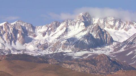 Time lapse of the snowcapped Sierra Nevada mountai Stock Video Footage