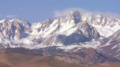 Time lapse of the snowcapped Sierra Nevada mountai Footage