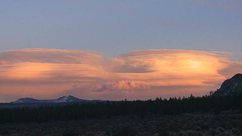Lenticular clouds in a sunset formation Stock Video Footage