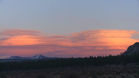 Lenticular clouds in a sunset formation Footage
